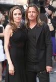 Brad Pitt och Angelina Jolie fotografering för bildbyråer