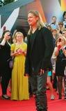 Brad Pitt på Moskvafilmfestivalen Royaltyfri Fotografi
