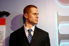 Brad Pitt vaxstaty, vaxdiagram, waxwork royaltyfri foto