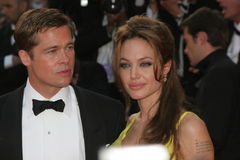 Brad Pitt y Angelina Jolie fotografía de archivo libre de regalías
