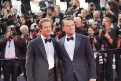 Brad Pitt y Leonardo DiCaprio fotos de archivo libres de regalías