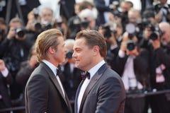 Brad Pitt y Leonardo DiCaprio imágenes de archivo libres de regalías