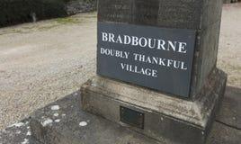 Bradbourne, Derbyshire, het UK: Oktober 2018: Dankbaar extra oorlog voer me royalty-vrije stock afbeeldingen