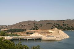 Bradbury Dam. The Bradbury Dam at Lake Cachuma in Santa Barbara County Stock Photos