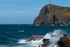 Bradda Head and Milner's Tower at Port Erin in the Isle of Man Stock Images