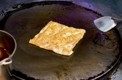 Bradend Zuidelijk Vlak Brood - Roti Stock Foto