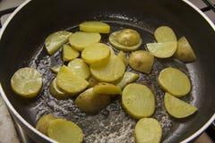 Bradende aardappel Royalty-vrije Stock Fotografie