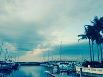 Bradenton海滩Riverwalk萨拉索塔海湾佛罗里达船坞 免版税图库摄影
