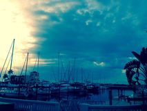 Bradenton beach Sarasota bay Florida Bridge Royalty Free Stock Photo