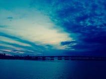 Bradenton plaży Sarasota zatoki Floryda most fotografia royalty free