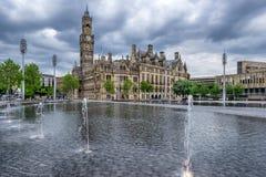 Bradford City Hall Lizenzfreie Stockfotos