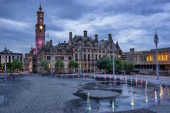 Bradford City Hall. In City Park in west Yorkshire Royalty Free Stock Photo