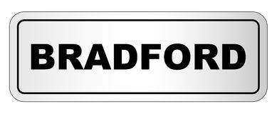 Bradford City Nameplate. The city of Bradford nameplate on a white background Royalty Free Stock Photos