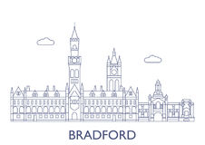 Bradford. The most famous buildings of the city. Bradford, United Kingdom. The most famous buildings of the city Stock Images