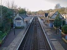 Bradford på den Avon järnvägsstationen, Förenade kungariket Royaltyfri Bild