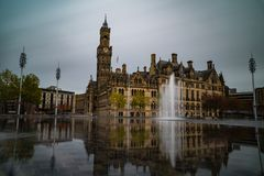 bradford Parque de la ciudad imagen de archivo libre de regalías