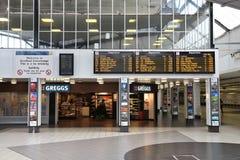 Bradford station. BRADFORD, UK - JULY 11, 2016: People visit Bradford Interchange, UK. Bradford is one of largest cities in Yorkshire with population of 528,155 royalty free stock image