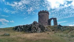 Bradgate Old John Folly. Old John Folly, an 18th century historical monument in Bradgate Park, England stock photography