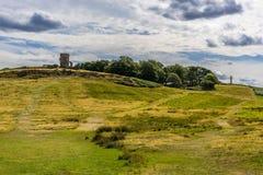 Bradgatepark, Leicestershire, tijdens de zomer die de Oude John dwaasheid tonen stock afbeeldingen