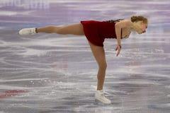 Bradie Tennell de los Estados Unidos se realiza en el programa del cortocircuito de Team Event Ladies Single Skating en las 2018  Imágenes de archivo libres de regalías