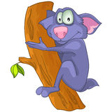 Bradipo del personaggio dei cartoni animati Fotografie Stock Libere da Diritti