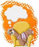 Bradipo pigro del fumetto Fotografia Stock