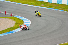 Bradl and Corsi pilots of Moto2 in the MotoGP Stock Photo