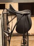 Bradle et selle de cheval Photos libres de droits