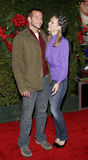 Bradley Cooper and Bonnie Somerville. WESTWOOD, CALIFORNIA. November 14, 2005. Bonnie Somerville and Bradley Cooper at the `Just Friends` Premiere at the Mann stock image