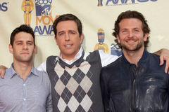 Bradley Cooper,Ed Helms,Justin Bartha Royalty Free Stock Photos