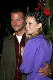 Bradley Cooper en Bonnie Somerville stock foto's