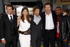 Bradley Cooper, Jessica Biel, Sharlto Copley, Liam Neeson and Quinton Jackson Royalty Free Stock Photo