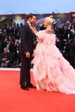 Bradley Cooper L e signora Gaga fotografia stock libera da diritti