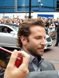 Bradley Cooper at A Team Premiere. LONDON - July 27: Bradley Cooper at A Team Premiere July 27th, 2010 in Leicester Square London, England Royalty Free Stock Image