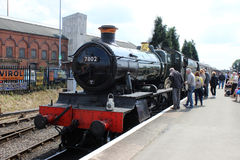 Bradley Manor ångadrev Severn Valley Railway Royaltyfri Fotografi