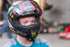 Bradley Smith am Moto GP 22. Oktober 09 Lizenzfreie Stockfotos