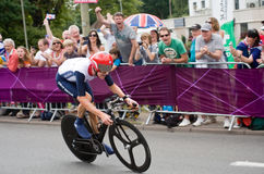 Bradley Wiggins in the Olympic Time Trial Stock Images