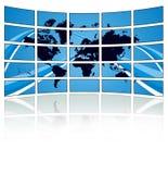 Bradsact del mundo TV stock de ilustración
