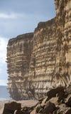 bradstock burton απότομοι βράχοι jurassic στοκ φωτογραφία με δικαίωμα ελεύθερης χρήσης