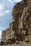 bradstock burton οι απότομοι βράχοι διέβρωσαν jurassic στοκ εικόνα