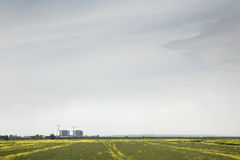 Bradwell power station. Landscape image of the countryside with bradwell power station in the distance Royalty Free Stock Photos