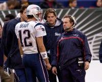 Brady e Belichick Fotografia de Stock