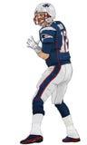 Brady Throw Cartoon Arkivbilder