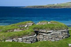 Brae de demeure néolithique de Skara ; Images stock