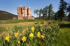 Braemar城堡,阿伯丁郡,苏格兰 免版税图库摄影