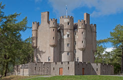 Braemar Castle. Braemar, Scotland - September, 12, 2012: Braemar Castle is situated near the village of Braemar in Aberdeenshire, Scotland. It is a possession of royalty free stock image