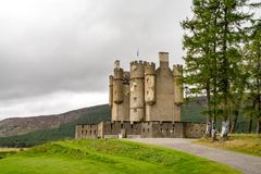 Braemar Castle, Aberdeenshire, Scotland. Is a former hunting lodge built in 1628 by the Earl of Mar and with historic connections to the Jacobite risings, and Stock Images