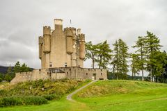 Braemar Castle, Aberdeenshire, Scotland. Is a former hunting lodge built in 1628 by the Earl of Mar and with historic connections to the Jacobite risings, and Royalty Free Stock Photo