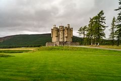 Braemar Castle, Aberdeenshire, Scotland. Is a former hunting lodge built in 1628 by the Earl of Mar and with historic connections to the Jacobite risings, and Stock Photography