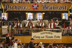 Braeurosl en Oktoberfest en Munich, Alemania, 2015 Foto de archivo